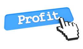 Profit Button with Hand Cursor. Royalty Free Stock Images