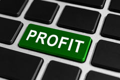 Profit button on keyboard Stock Photography