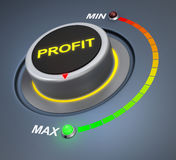 Profit. Button position. Concept image for illustration of  in the maximum position , 3d rendering stock images