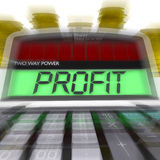 Profit Calculated Means Surplus Income And Revenue Royalty Free Stock Image