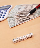 Profit Calculations Royalty Free Stock Photo