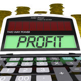 Profit Calculator Means Surplus Income And Revenue Royalty Free Stock Photo