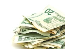 The profit cash money. Idea of stacking profit money in business Royalty Free Stock Images