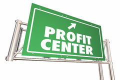 Profit Center Road Sign Increase Revenue New Business 3d Illustr. Ation Royalty Free Stock Images
