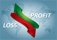 Profit chart Royalty Free Stock Photography