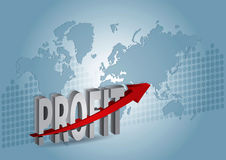 Profit chart Stock Photo