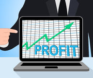 Profit Chart Graph Displays Increase Cash Wealth Revenue Stock Images