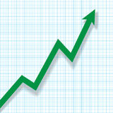 Profit Chart on Graph Paper Royalty Free Stock Photos