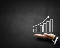 Profit chart Royalty Free Stock Photos