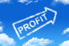 Profit - cloud word Stock Photos