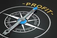 Profit compass concept,. 3D rendering Stock Images