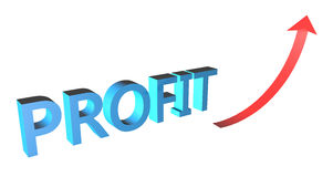 Profit concept 3D text Royalty Free Stock Image