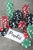 Profit Concept. Gambling chips background Stock Image