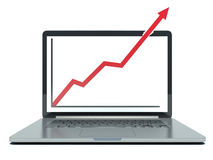 Profit concept, red arrow shows business growth Royalty Free Stock Image