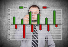 Profit and cost chart Royalty Free Stock Photo