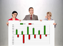Profit and cost chart Stock Photos