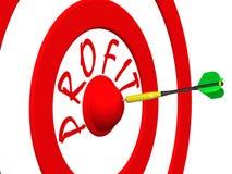 Profit. A dart at the target center Stock Photo
