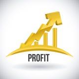 Profit design Royalty Free Stock Photo