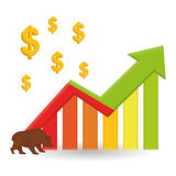 Profit design, money and finance concept Royalty Free Stock Photography