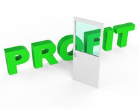Profit Door Represents Profits Income And Success Stock Photos