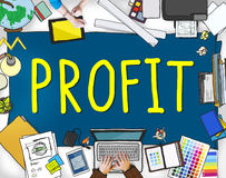 Profit Earning Benefit Financial Revenue Concept.  Royalty Free Stock Photos