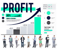 Profit Finance Data Analysis Money Accumulation Concept Royalty Free Stock Images