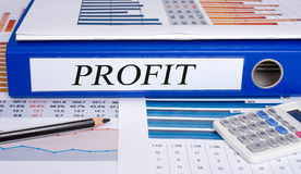 Profit folder Royalty Free Stock Photo