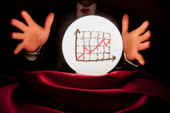 Profit Future Crystal Ball In Business People Hands Stock Photos