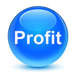 Profit glassy cyan blue round button Royalty Free Stock Photography