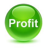 Profit glassy green round button Royalty Free Stock Photos