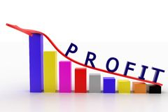 Profit graph with bar status Royalty Free Stock Photo