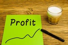 Profit graph green paper Royalty Free Stock Photos