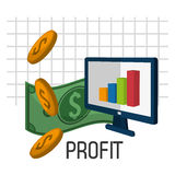 Profit graphics, vector illustration Royalty Free Stock Photography