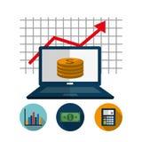 Profit graphics, vector illustration Stock Photos