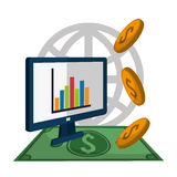 Profit graphics, vector illustration Royalty Free Stock Images