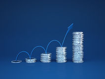 Profit growth stock illustration