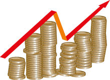 Profit growth Stock Photo