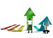 Profit growth Stock Photo