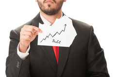 Profit growth chart concept Royalty Free Stock Photography