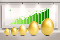 Profit growth eggs chart Stock Photos
