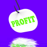 Profit On Hook Displays Financial Incomes And Earnings Stock Photos