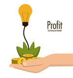 Profit icon design Stock Photos