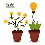 Profit icon design Royalty Free Stock Images