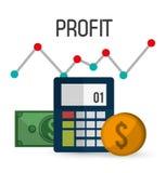 Profit icons design Stock Photos