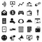 Profit icons set, simple style. Profit icons set. Simple set of 25 profit vector icons for web isolated on white background Stock Images