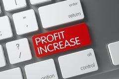 Profit Increase Key. 3D Render. Stock Image