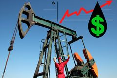 Profit Increase in the Oil and Gas Industry As A Concept stock photo