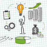 Profit increase vector illustration