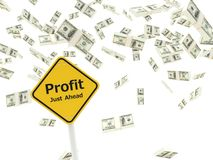 Profit just ahead road sign Royalty Free Stock Photography