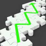 Profit Line Jigsaw Shows Increased Investment Royalty Free Stock Photos